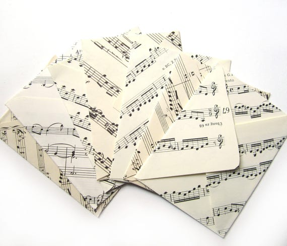 Set of 16 sheet music envelopes (Suitable for A7 cards)
