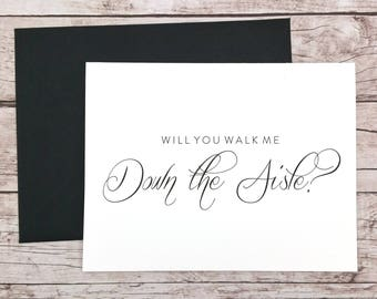 Will You Walk Me Down the Aisle Card, Wedding Card, Father of the Bride, Dad Card, Father of the Bride Gift  - (FPS0058)