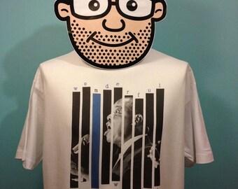 Louis Armstrong Jazz Music T-Shirt (What A Wonderful World) - White Shirt