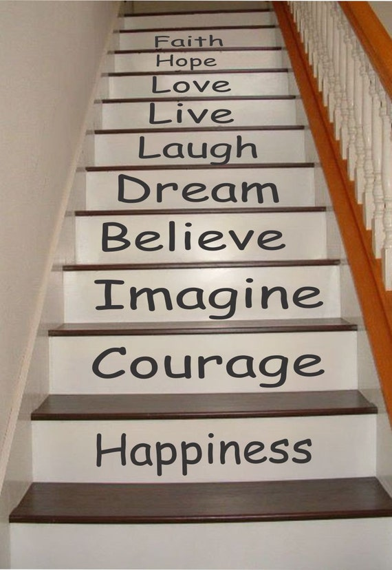 Inspirational Stair Riser Decals Stair Decals Stair