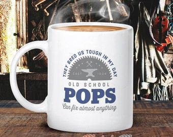 Old School Pops, Pops Mug, Birthday Gift For Pops! Pops Gift. Pops, Pops Present, Pops Birthday Gift, Gift For Pops!