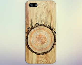 Stained Wood Animals Tree Trunk Phone Case Nature iPhone X iPhone X  Samsung Galaxy s9 edge s6 and Note 8  S8 Plus Phone Case