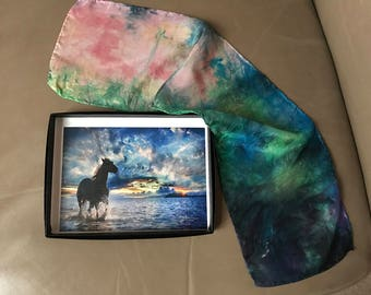 Prophetic - Prophetic Art - Dyed Silk - Christian Gifts - Dyed4you Art Gift Set (art- Exulting in His Salvation   silk- A Living Testimony)