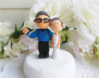 Custom Cake Topper- Star trek theme