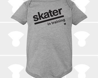 Baby Onesie, Skater In Training, Funny Onesie, Baby Shower Gift, Personalized Onesie, Baby Boy Onesie, Baby Girl Clothes, Newborn Gift