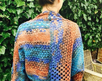 Free shipping/Alize yarn -colorful top -short coat-bolero-hippie bohemian woman top -1pcs-Ready to ship
