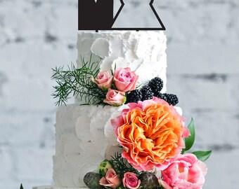 Mr & Mrs Personalized cake topper, wedding cake topper, custom wedding cake topper, Bride and Groom Wedding Cake Topper, custom cake topper