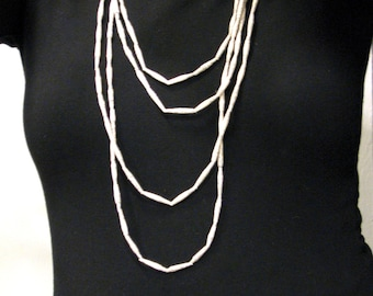 Handcrafted Paper Bead Multi Strand Necklaces