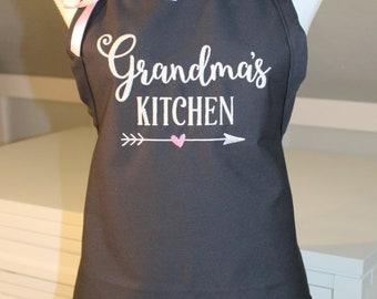 Grandma's Kitchen Apron - Personalized Apron - Grandma Apron - Gift for Grandma