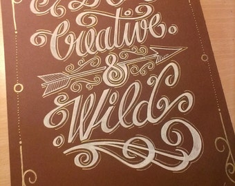 Calligraphy / Lettering 65 * 50cm on order