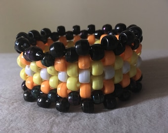 Small halloween kandi cuff braceley