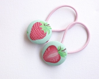 Strawberry button hair ties