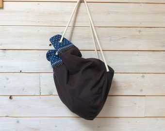 Back fabric bucket bag