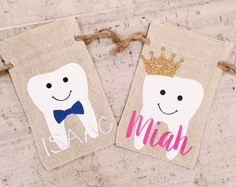 Tooth Bag, Tooth Fairy Bag//Little Kids//Boys and Girls//Pouches//Tooth Pouch