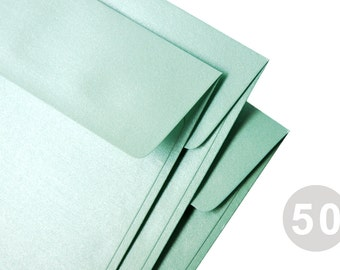 """50 A7 (5x7) Metallic Mint Envelopes - Perfect for 5""""x7"""" cards and invitation (The actual size is 5 1/4""""x7 1/4"""")"""