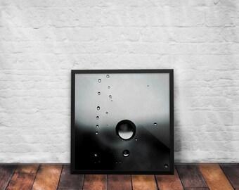 Framed Poster - RainDrops +  Fine Art Photography + Wall Art