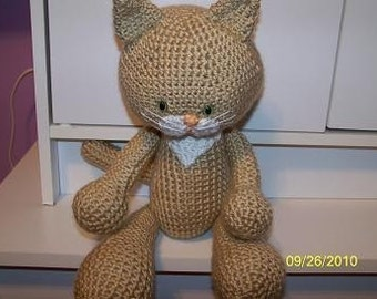 Calvin the crochet kitty cat ANY colors you want