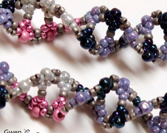 DNA Flu Virus Beaded Earrings in Pink, Silver, Blue, Purle