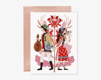 Folky Couple card