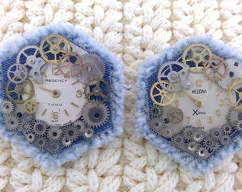 Recycled Watch Denim Ears by Sherry