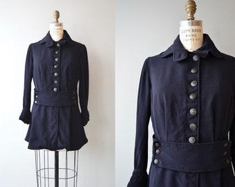 Edwardian wool jacket | 1910s walking jacket | gabardine wool Edwardian coat