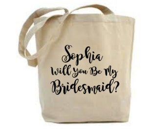 Personalized Will You Be My Bridesmaid Bag, Bridesmaid Gift, Maid Of Honor Tote Bag, I Can't Say I Do Without You