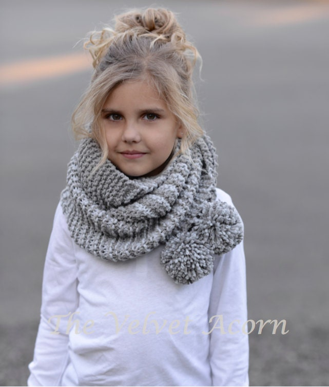 KNITTING PATTERN-The Tussock Scarf Toddler Child Adult