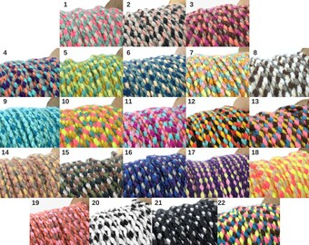 Colorful Braided Cord, Tribal Cord, Friendship Bracelet cord, Necklace Cord, Macrame Cord, Nylon Cord, Weaving Cord, 22 Colors