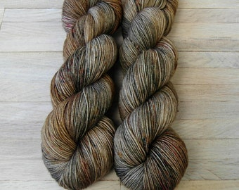 Hand Dyed Sock Yarn Superwash Merino - Yarntoyou  - PURE MERINO - Mother Earth