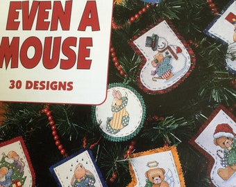 Leisure Arts counted cross stitch leaflet - And Even A Mouse vintage 1996