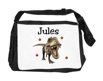 Dinosaur personalized with name shoulder bag