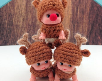 Digital Reindeer Crochet Pattern (Pattern ONLY not the finished doll)