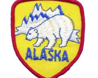 Alaska Polar Bear Patch (Iron on)