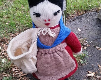 Hand-Sown Crafted Knit Doll