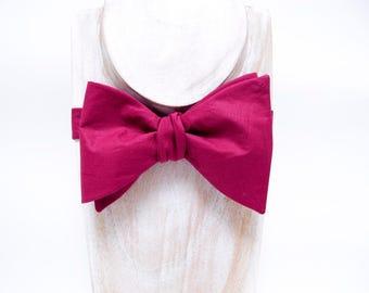 Mahogany / Dark Fuchsia Freestyle Thistle Bow Tie, Formal