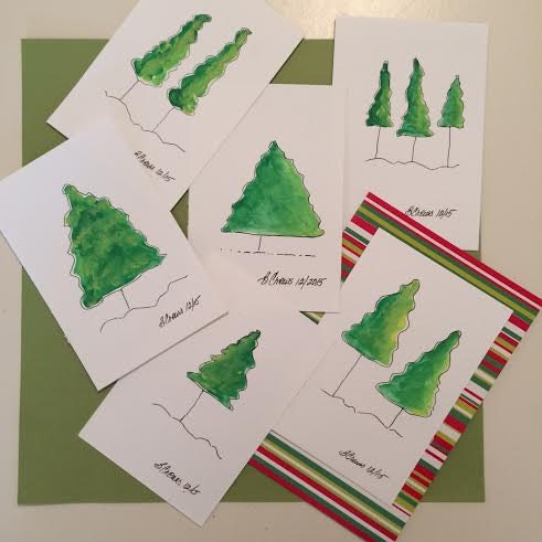 4x6 Inch Original Paintings Of Paintatreeaday Art To Gift In