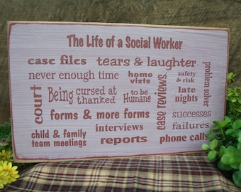 Great Social Worker Gift - Subway Sign - Personalized Helping profession we can change any phrases for you Free