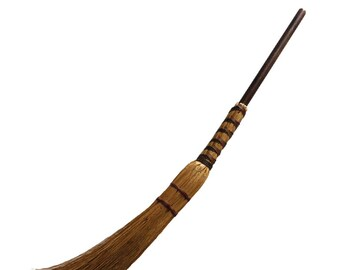 """36"""" Fireplace Hearth Broom Broomstick - Rustic Home and Hearth Decor - Country Living Decoration"""