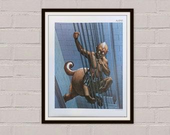 Sci Fi Print - Vintage Book Print - Van Dongen - Vintage Science Fiction Print - Science Fiction Art - Wall Art - 1970s - Sci Fi Art