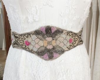 Edwardian beaded bridal belt