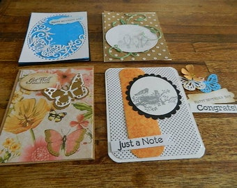 Card Kit, 4 Unfinished- Feminine, suitable for Mothers Day or any special occasion