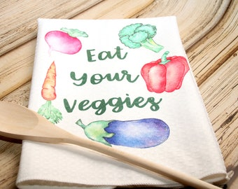 Eat Your Veggies Kitchen Towel