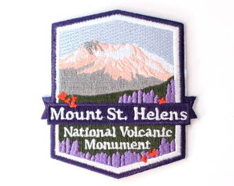Official Mount St. Helens National Volcanic Monument Souvenir Patch Washington Park Mt. FREE SHIPPING