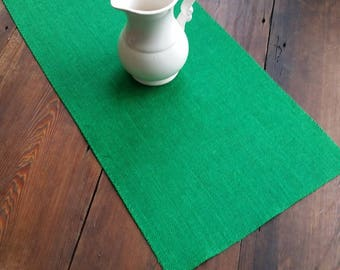 15 inch EMERALD GREEN Burlap Runner  - 7 Green Color Choices