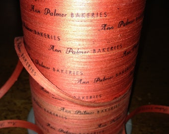 Fabulous Vintage Paper Advertising  Ribbon String....Ann Palmer Bakeries