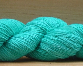 Sock (4ply), hand-dyed yarn, 100g - Teal
