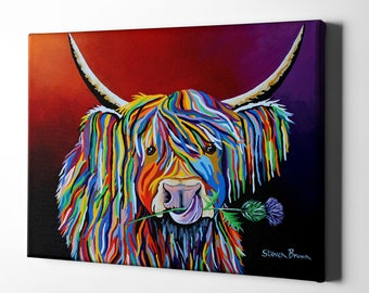 """Giclee Canvas Wall Art """"Lizzie McCoo"""" by Steven Brown"""