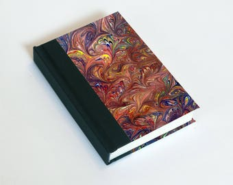 "Sketchbook 4x6"" with motifs of marbled papers - 18"