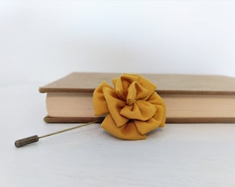 Stick Pin with Fabric Flower