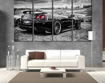 Nissan Nissan GTR Print GT R Canvas Gtr Photo Nisan Wall Art Top Gear GT